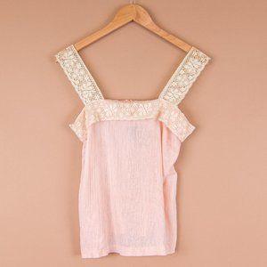 VTG Teddi Baby Pink Lace Strap Tank Top